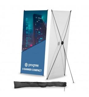 X-Banner Compact 80 x 180 cm z wydrukiem