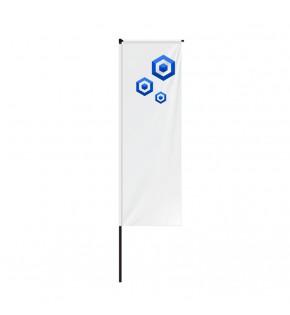 Flaga reklamowa Quad 300 cm z wydrukiem